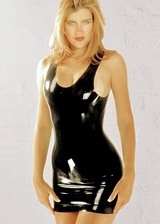 Robe courte latex Sexy Line