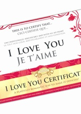 Certificat I love you